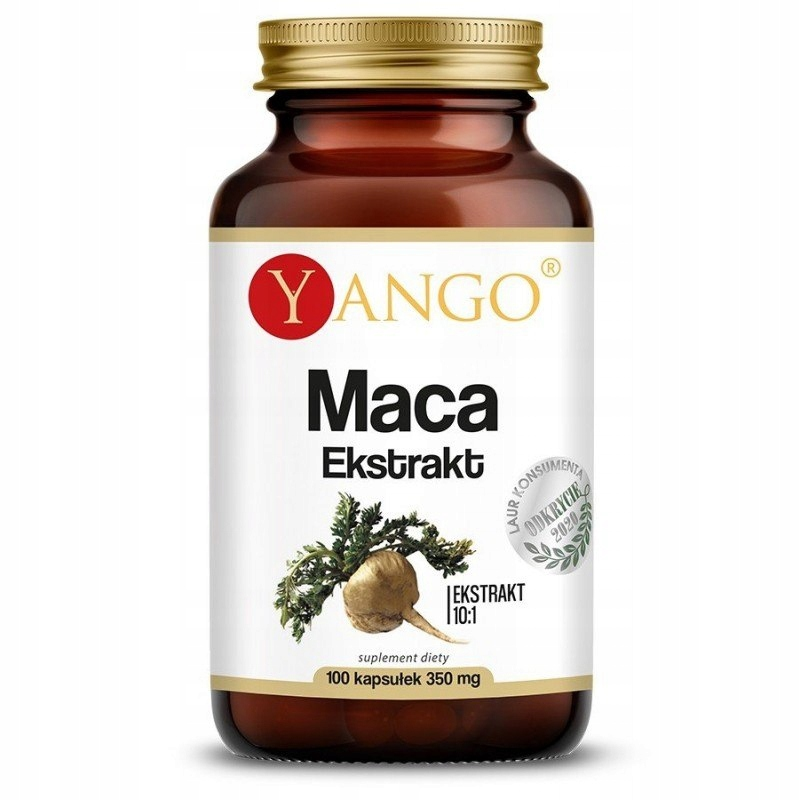 Maca, ekstrakt 10:1, 100 kapsułek, Yango