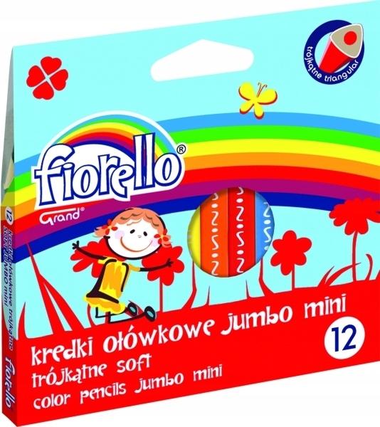 Kredki ołówkowe Jumbo mini 12 kolorów Fiorello