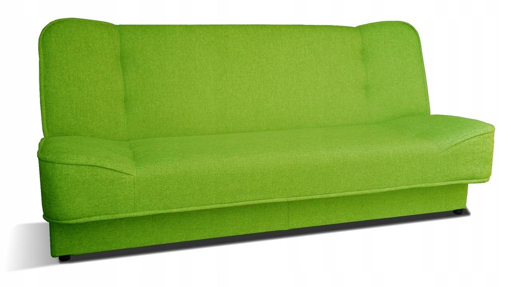 Kanapa WERA rozkładana wersalka limonka sofa RIBES