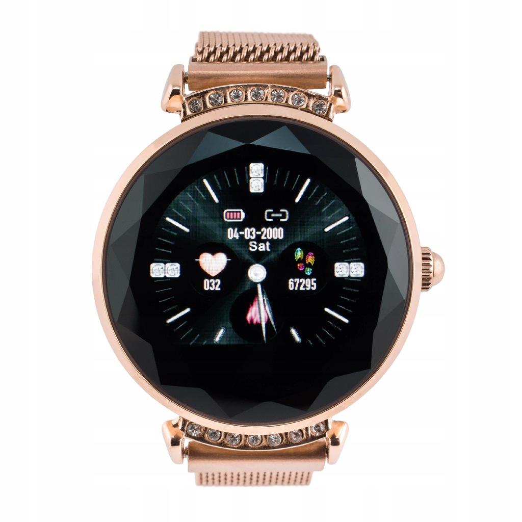 SmartWatch DAMSKI Piękny Zegarek złota bransoleta