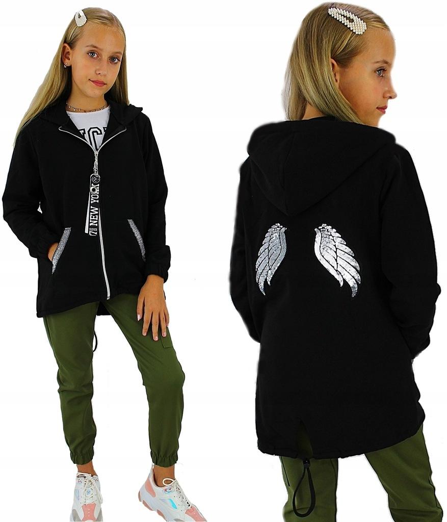 bluza rozpinana ze skrzydłami