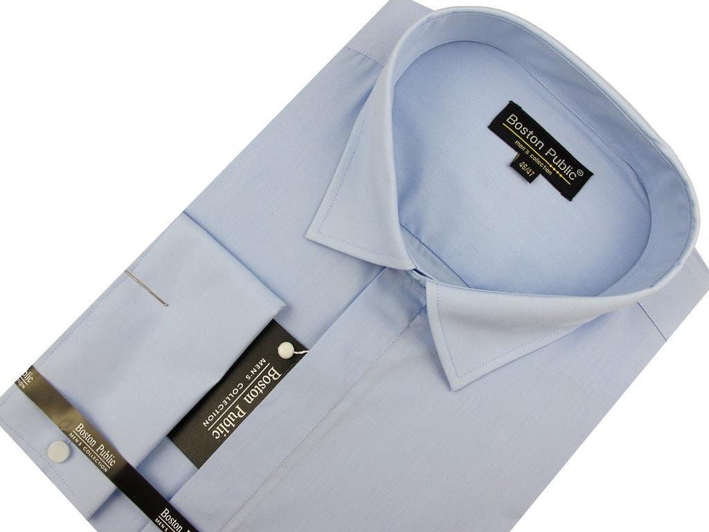 Koszula Męska Boston Public gładka biała SLIM FIT z