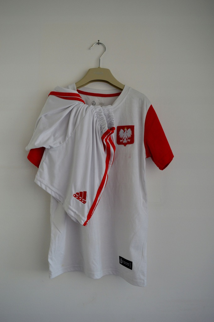 POLSKA - koszulka i spodenki ADIDAS, r. 158
