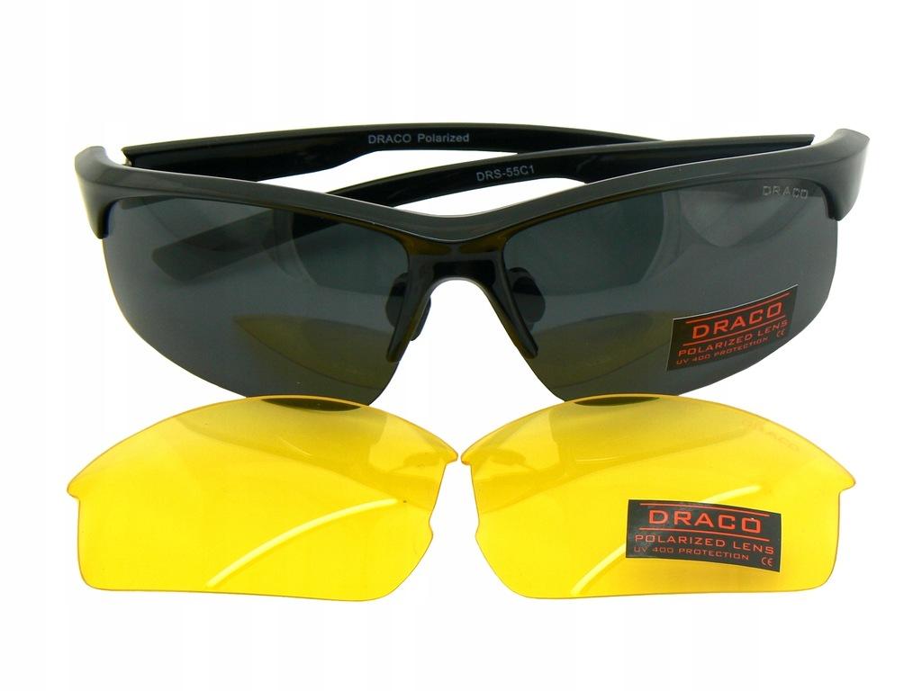 Okulary słoneczne + rozjaśniające POLARYZACJA 2w1