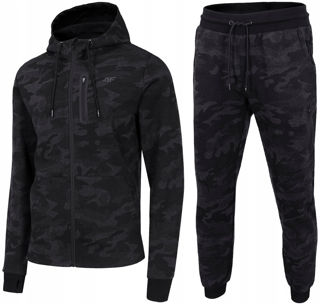 4F MĘSKIE Bluza Spodnie DRESY 072 KOMPLET CAMO XL