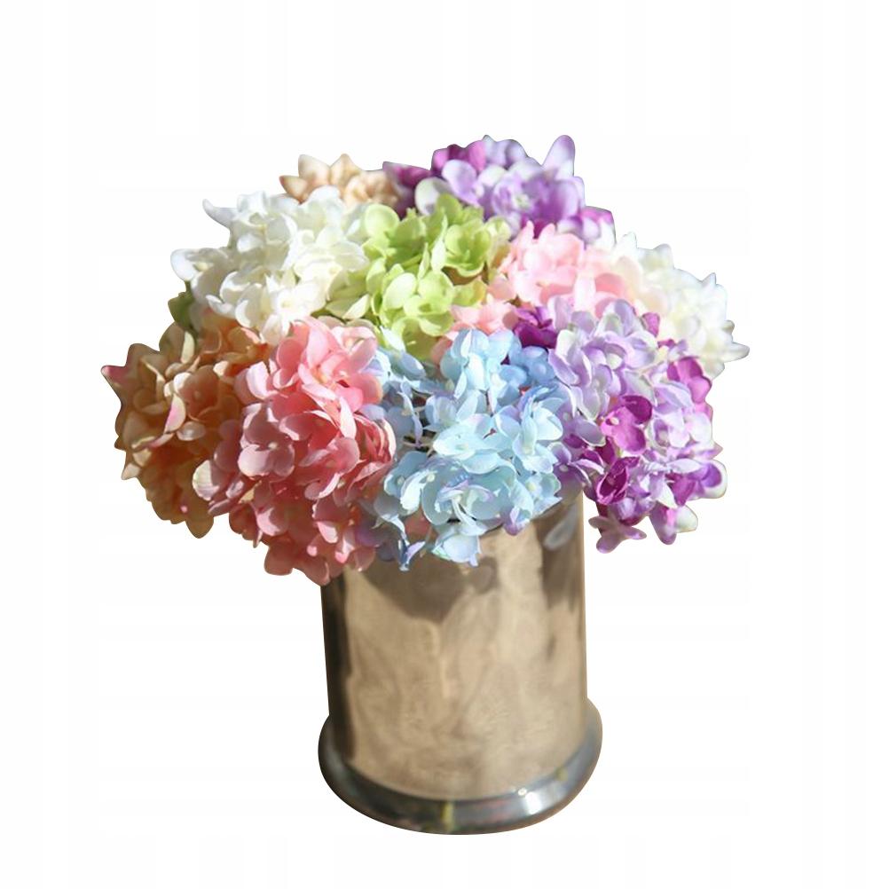 6 sztuk Sztuczna hortensja Roślina kwitnąca sprzyj
