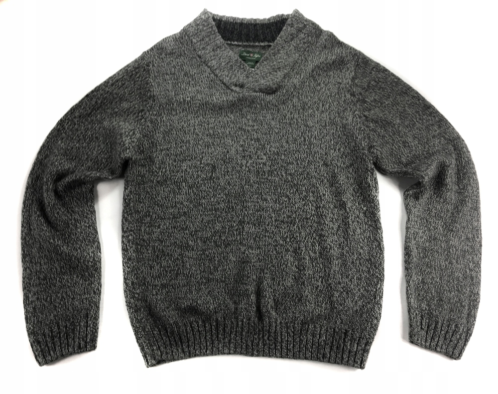 4674 DAVID TAYLOR szary CIEPŁY sweter PRZYJEMNY M