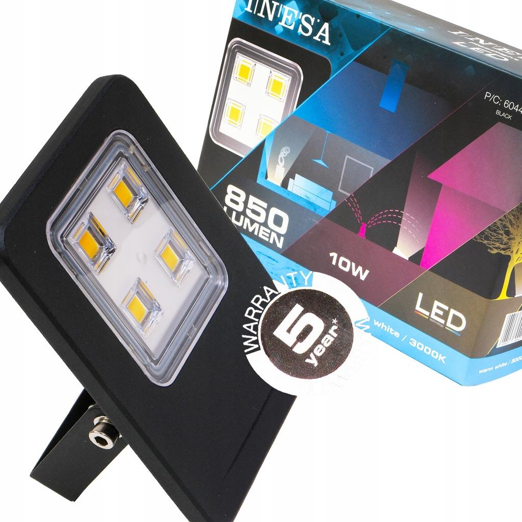 Naświetlacz projektor LED slim 10W IP65 INESA 3000