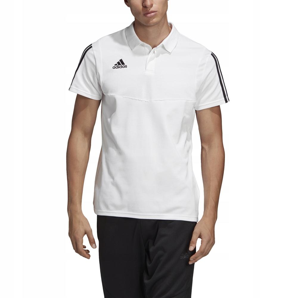 adidas Tiro 19 CO Koszulka Polo BiałyCzarny Męska