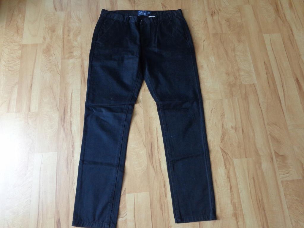 Czarne spodnie TOPMAN rozmiar 36/32 SKINNY CHINO