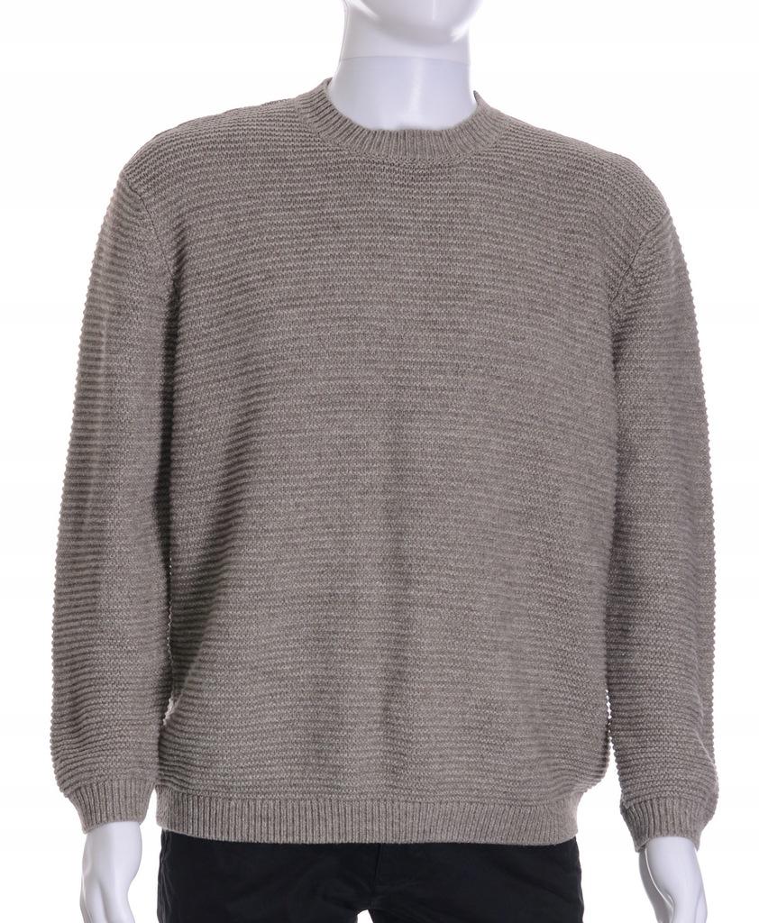 NEXT ciepły beżowy sweter męski z wełną XL