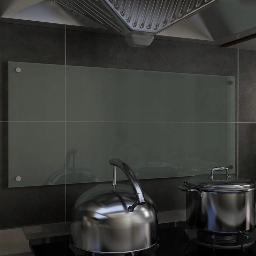 Panel ochronny do kuchni, biały, 90x40 cm, szkło h