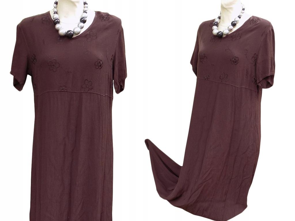M&S,luźna sukienka a'la indyjska, haft r.40/42