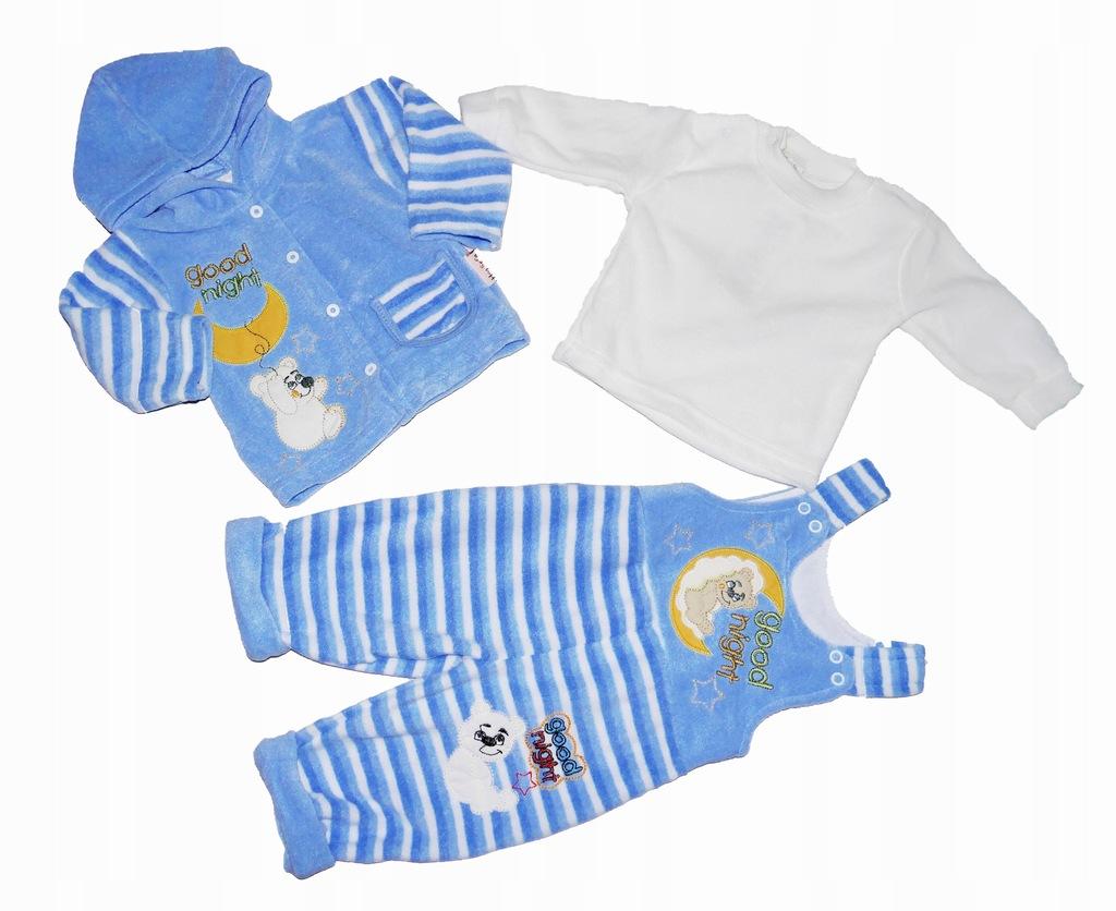 Komplet niemowlęcy, polar, niebieski, r. 68