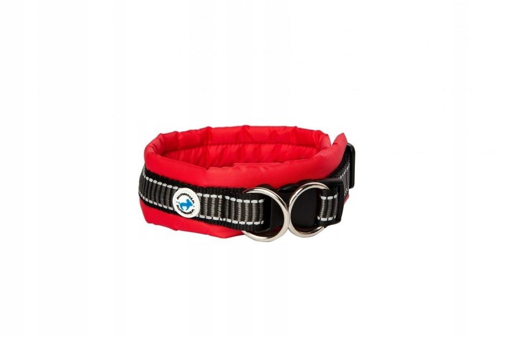 Obroża dla Psa ALL FOR DOGS Klasyczna Czerwona M