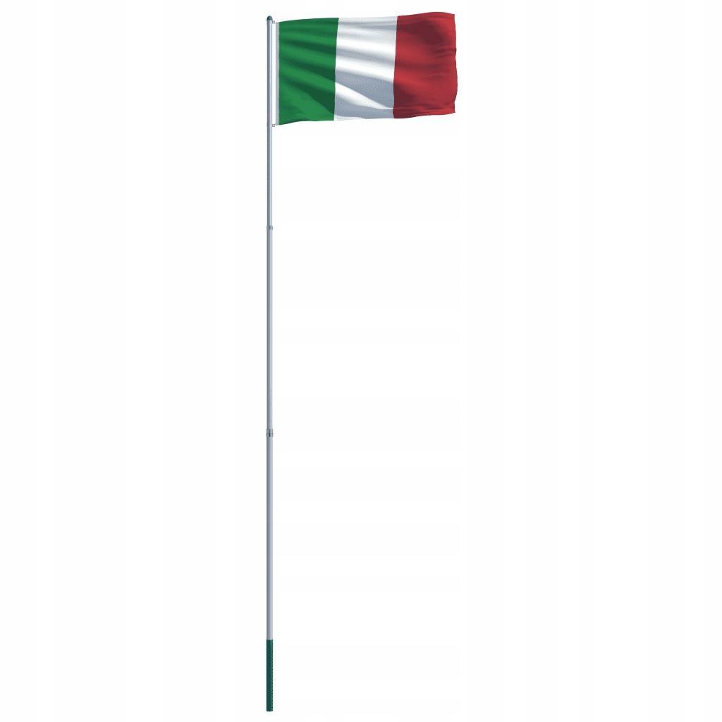 Flaga Włoch Z Aluminiowym Masztem 6 m