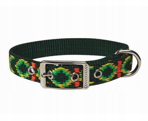 CHABA Obroża Ozdobna Lux 25mm x 55cm zielona