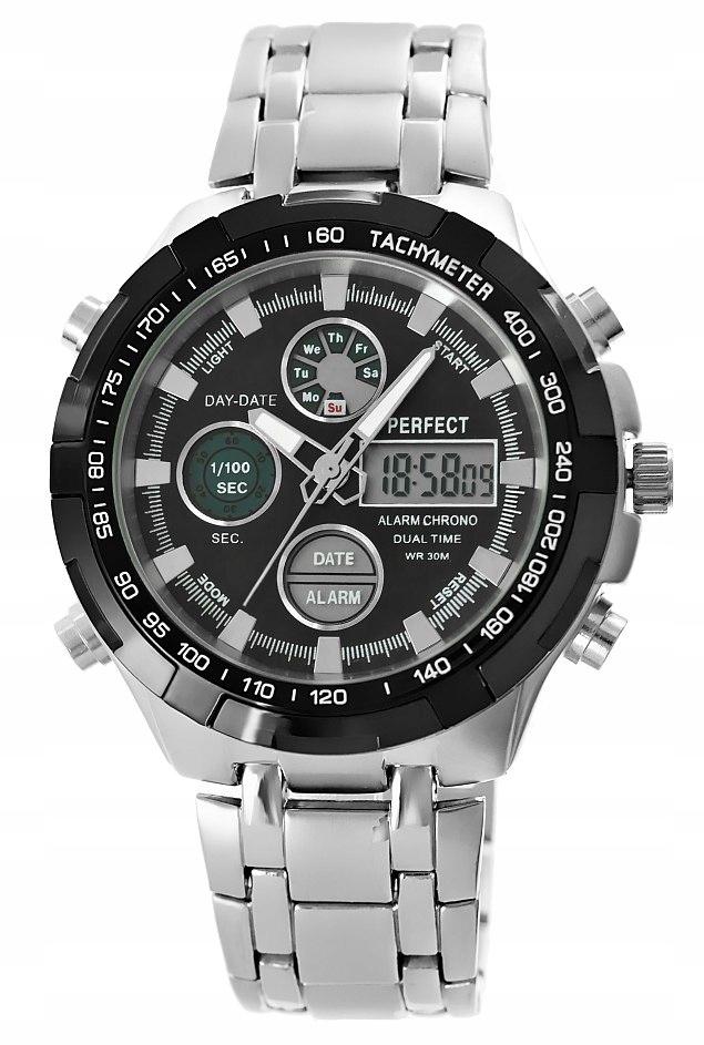 Zegarek Męski Perfect A816-1 Fluo iluminacja