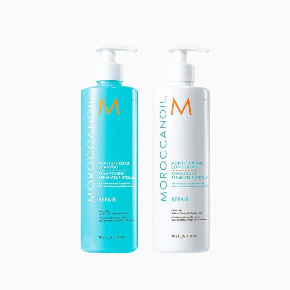 Moroccanoil regenerujący szampon i odżywka 2x500ml