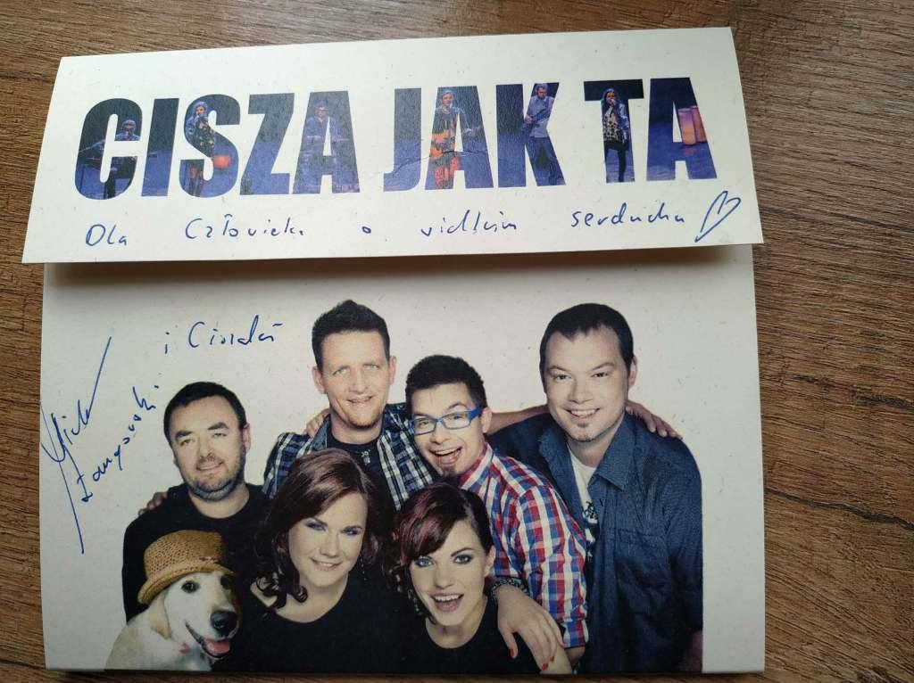 Płyta Zespołu CISZA JAK TA z autografem