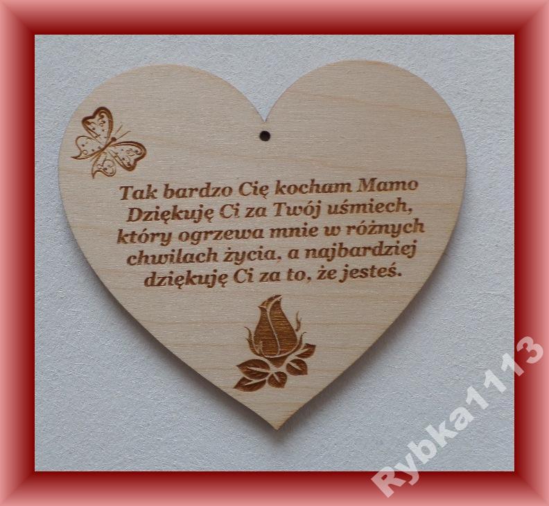 Dzień Matki Serce Zawieszka Wiersz Tak Bardzo