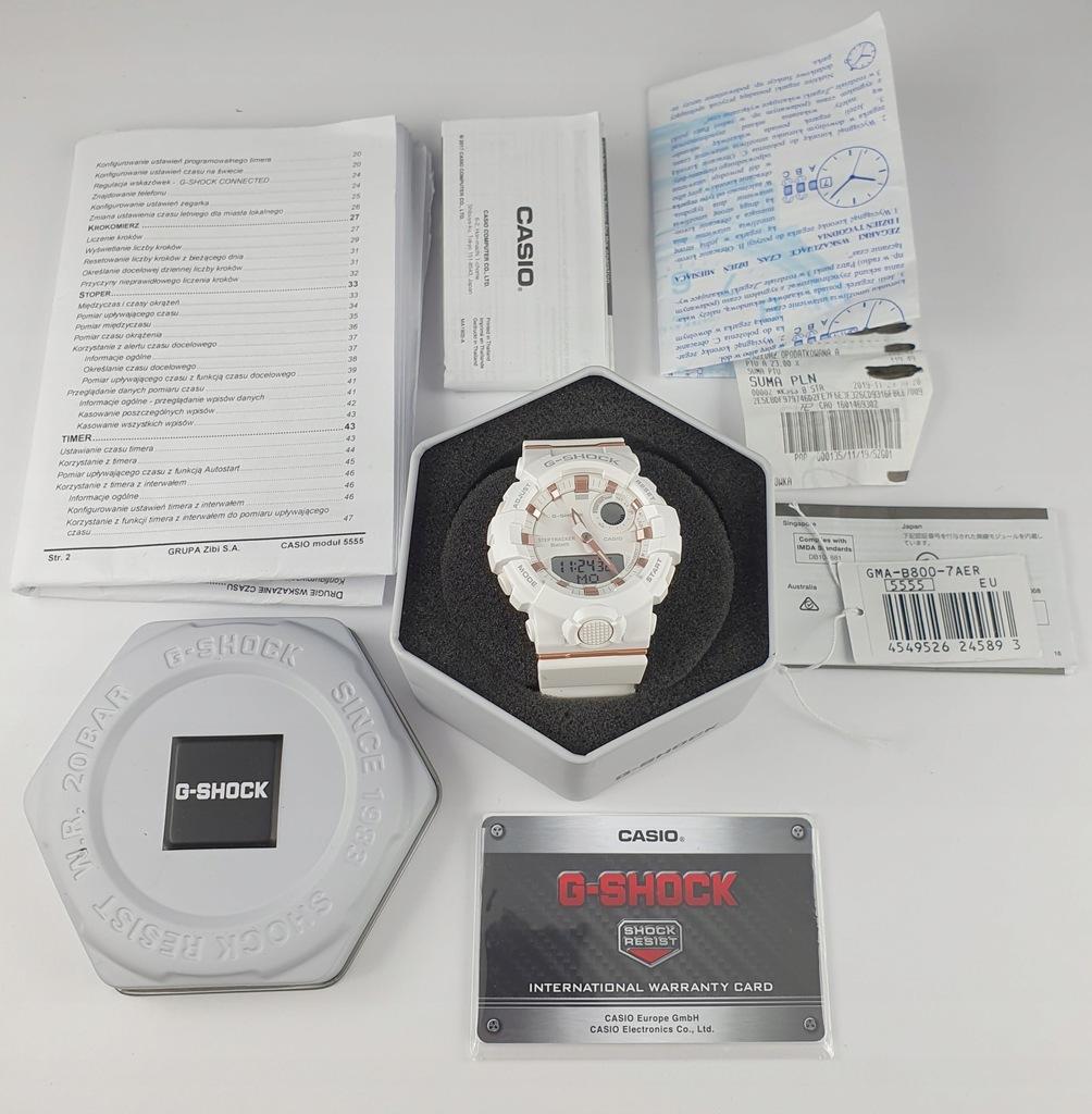 Casio G-Shock GMA-B800-7AER Zegarek męski damski