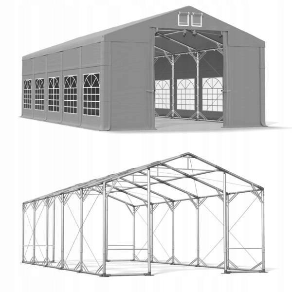 8x10m 2,5-4,0m Namiot ogrodowy polar plus fi50 mm