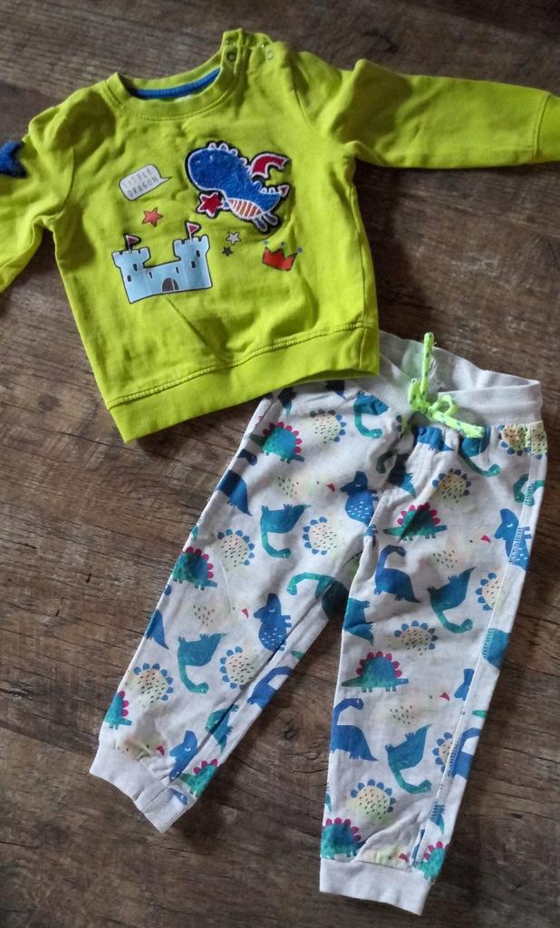 PEPCO dres spodnie + bluza DINOZAURY 92