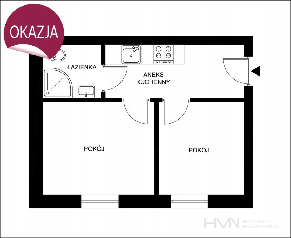 Mieszkanie, Kraków, Bronowice, Bronowice, 25 m²