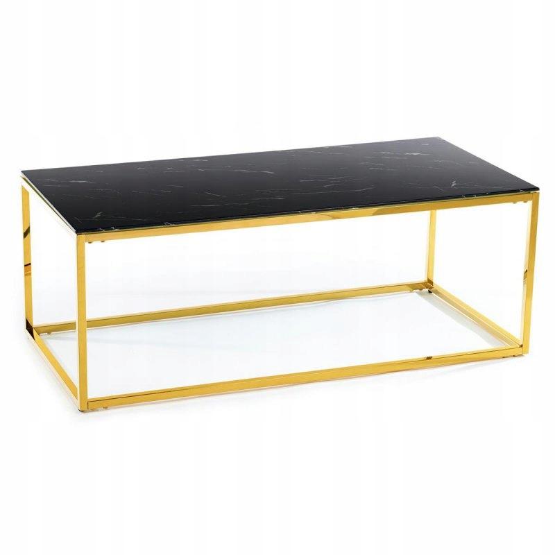 Ława Rekta Gold Black 120 cm