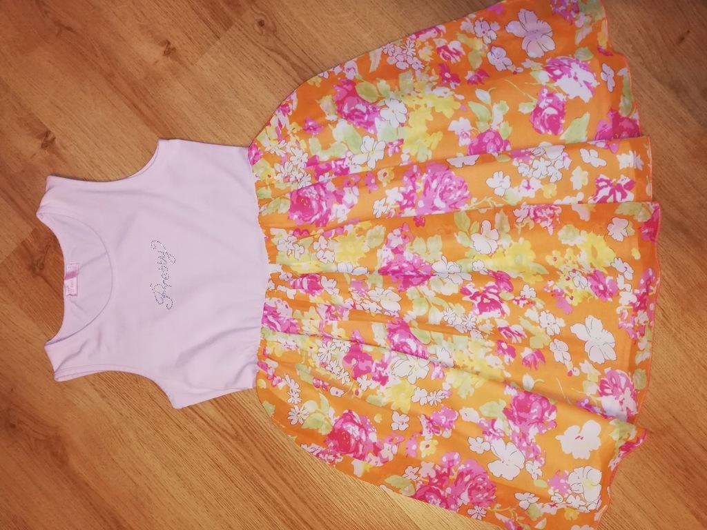 Sukienka kwiaty 140 146 152