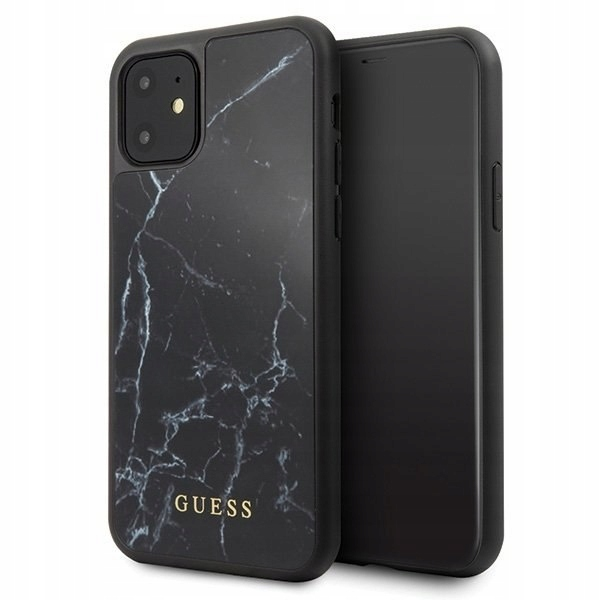 Etui Guess GUHCN61HYMABK iPhone 11 czarny /black M