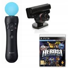 KONTROLER Move PS3 + EYE PS3 + HEROSI PS3 +PUDEŁKO