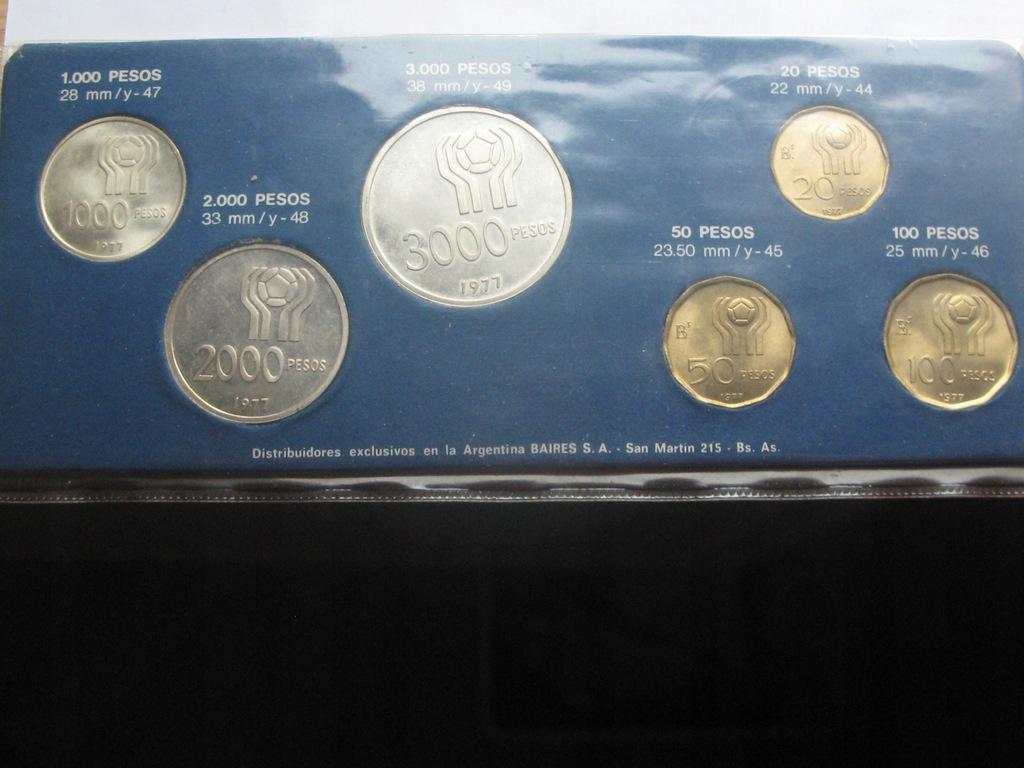Argentyna Zestaw monet Mundial 1978 Stan 1