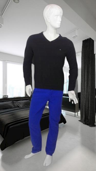 Tommy Hilfiger logowany czarny sweterek
