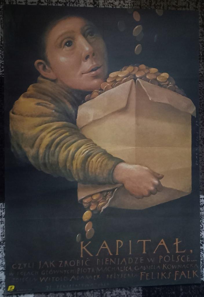 plakat - Kapitał - Wiesław Wałkuski 1989