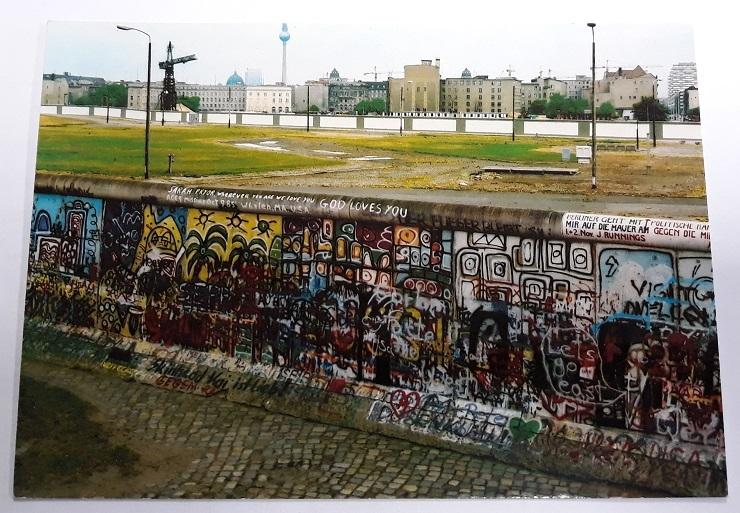 Pocztówka Mur Berliński, Berlin 1990
