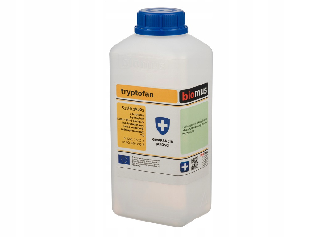 TRYPTOFAN L-tryptophan czysty 50g BIOMUS