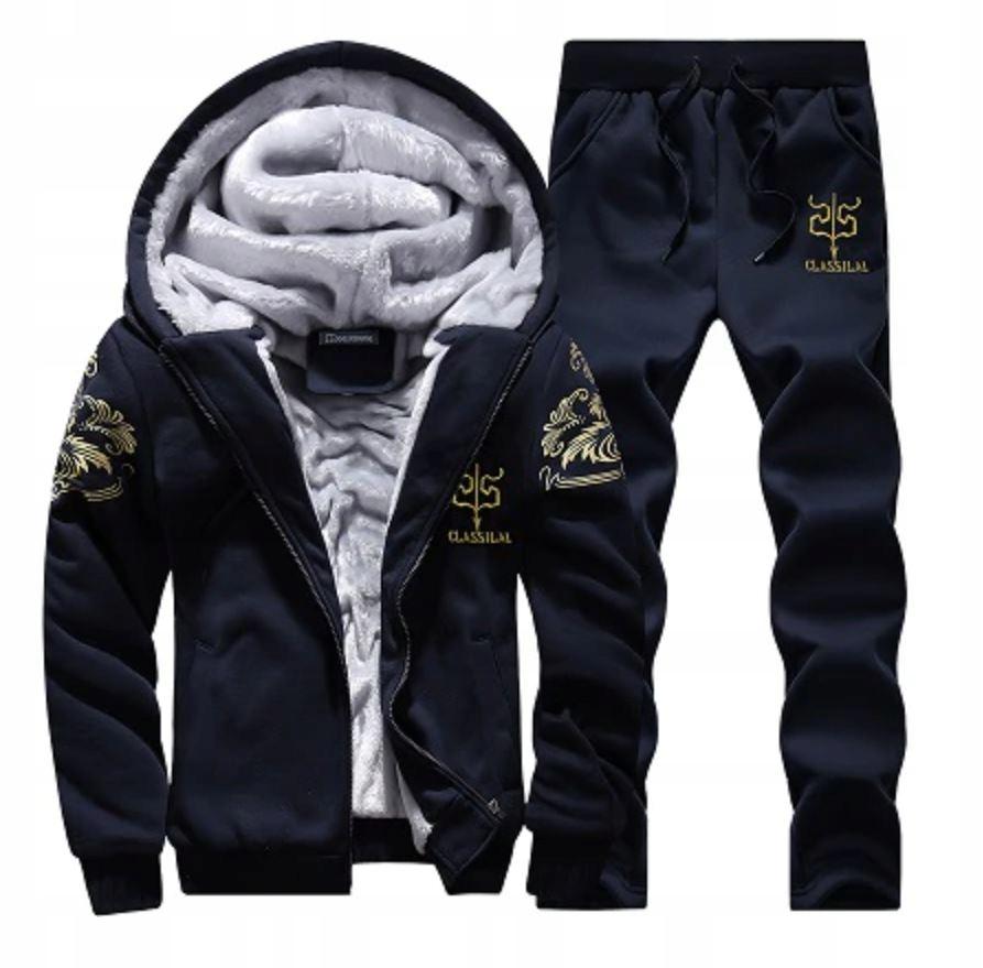 Komplet Męskie Dresy Bluza na Zamek + Spodnie S