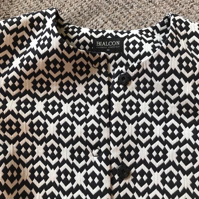 płaszcz bialcon 40 L geometryczny wzór