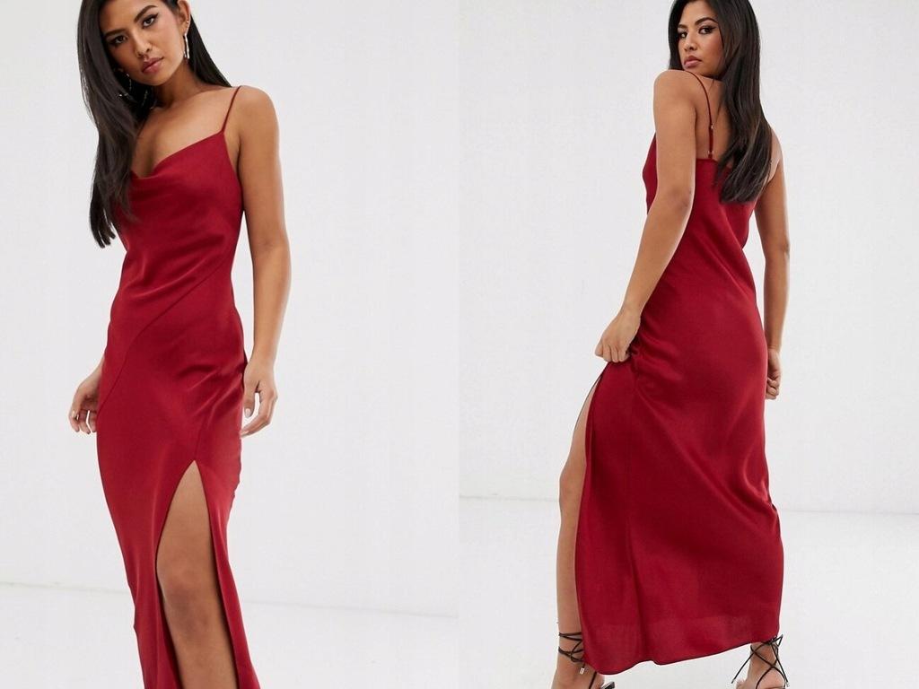River Island - Czerwona sukienka maxi 38/M