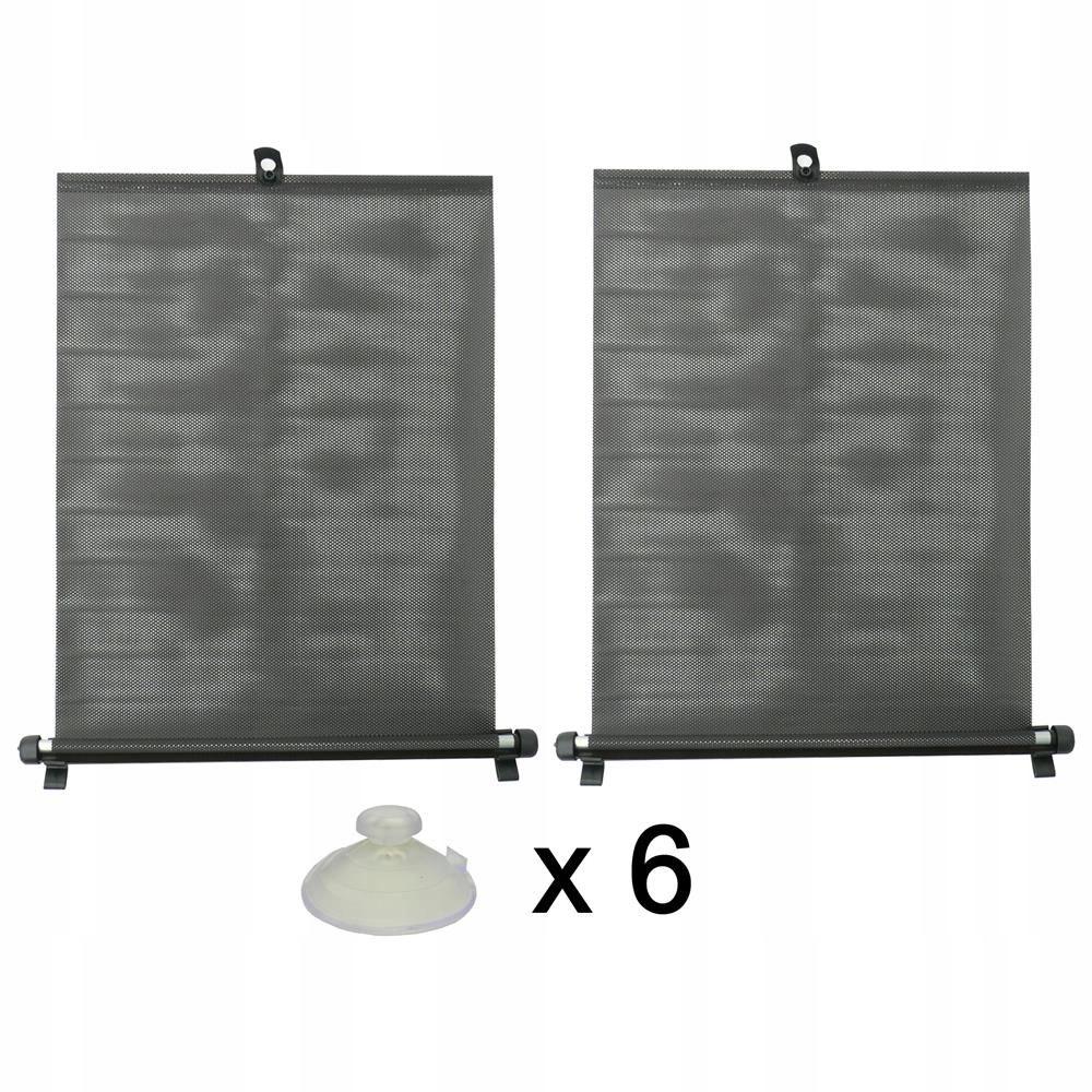 Żaluzje przeciwsłoneczne 2x50 cm na przyssawki
