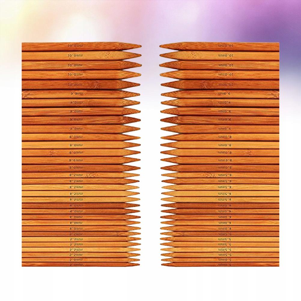 75 szt. 20 cm bambusowych igieł dziewiarskich Podw