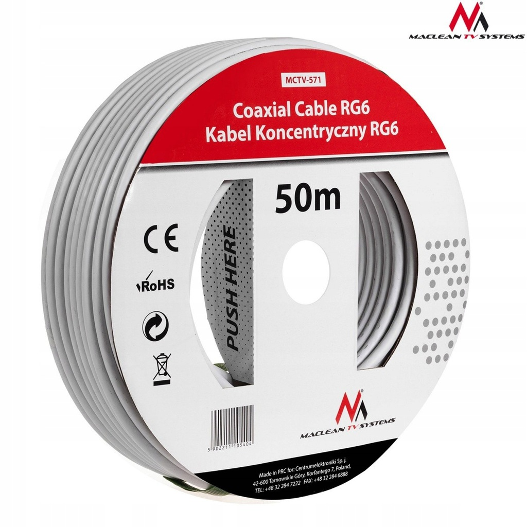 Kabel przewód koncentryczny satelitarny 1.0CCS