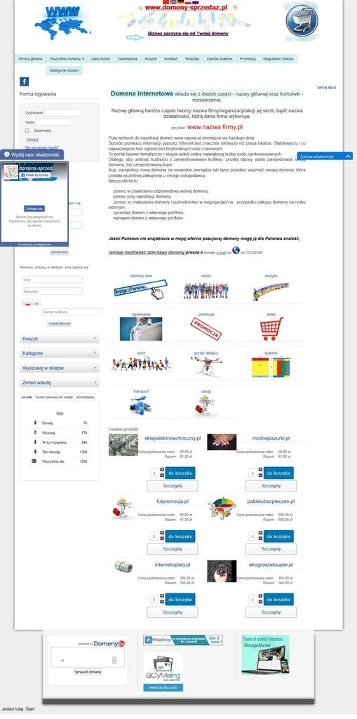domena do sprzedaży/dzierżawy www.przewozosob.eu