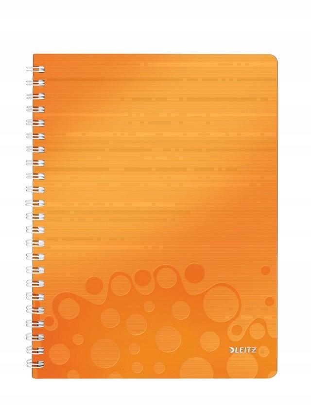 Kołonotatnik w kratkę A4/80 LEITZ Wow pomarańczowy