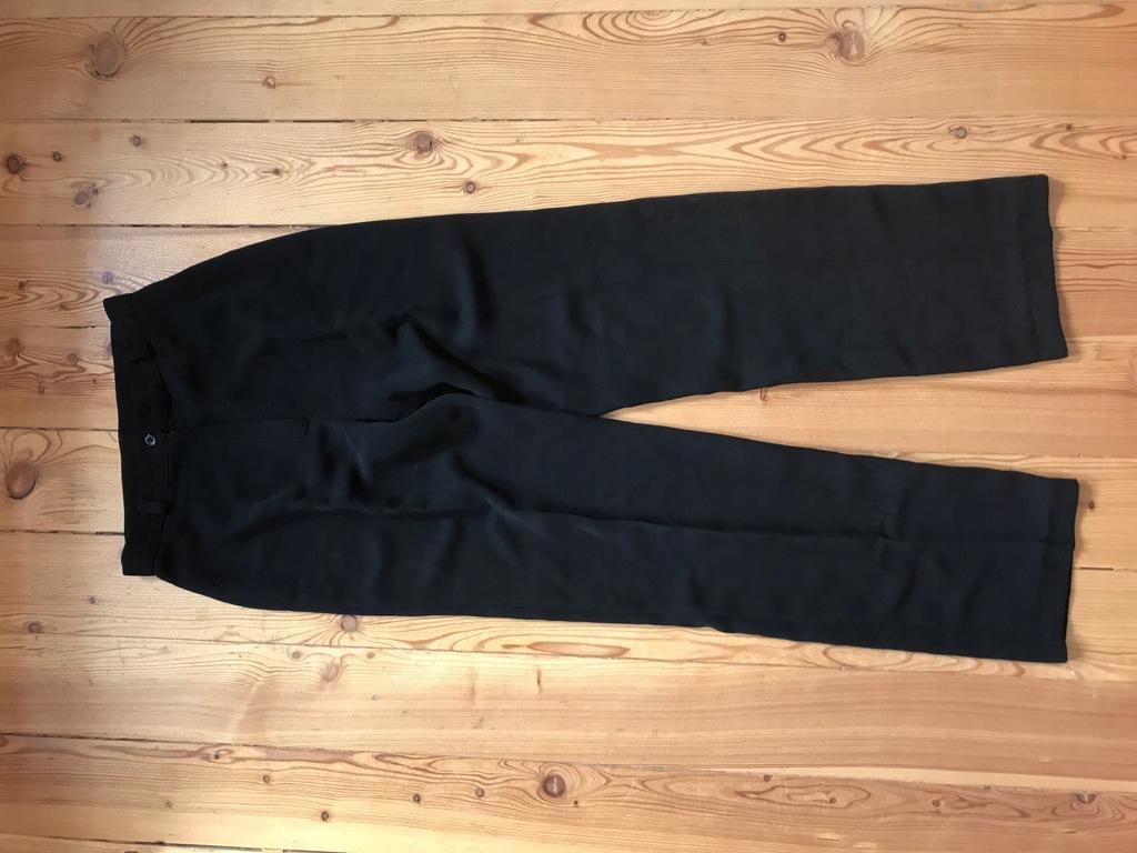 spodnie w kant czarne