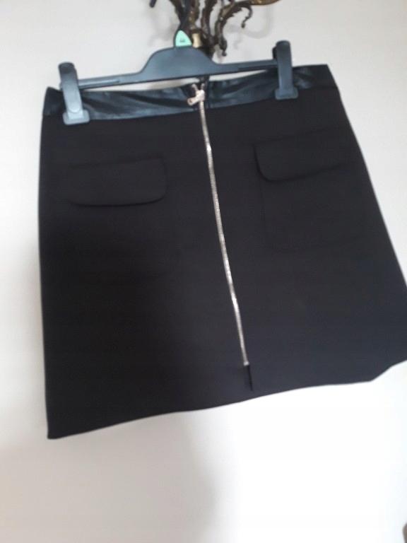 F&F spódniczka spódnica czarna 42