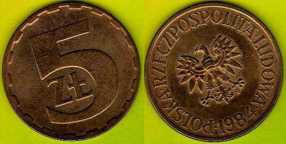 POLSKA 5 zł 1984 r.
