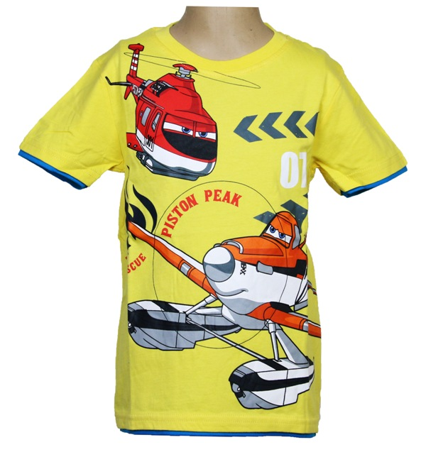 Super koszulka Planes Samoloty 122 cm ŻÓŁTA